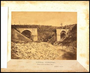 BARBACENA ANTIGA 1881-PONTE E LINHA CENTRAL