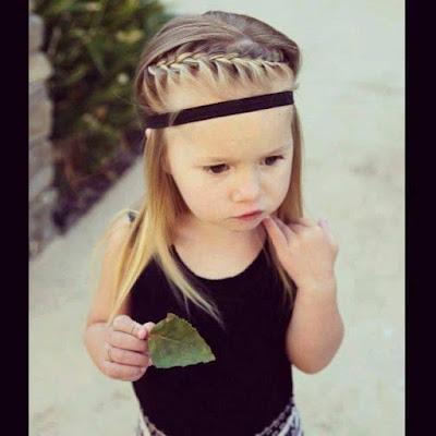 gaya ikatan rambut, rambut si gadis
