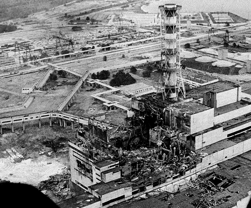 Chernobyl Power Plant - worst nuclear disaster ranked 1st