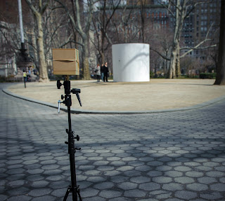A photograph that shows the relation between my pinhole camera and the camera obscura.