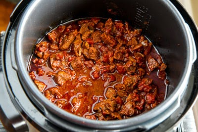 Pressure Cooker All-Beef Ancho and Anaheim Chili found on KalynsKitchen.com