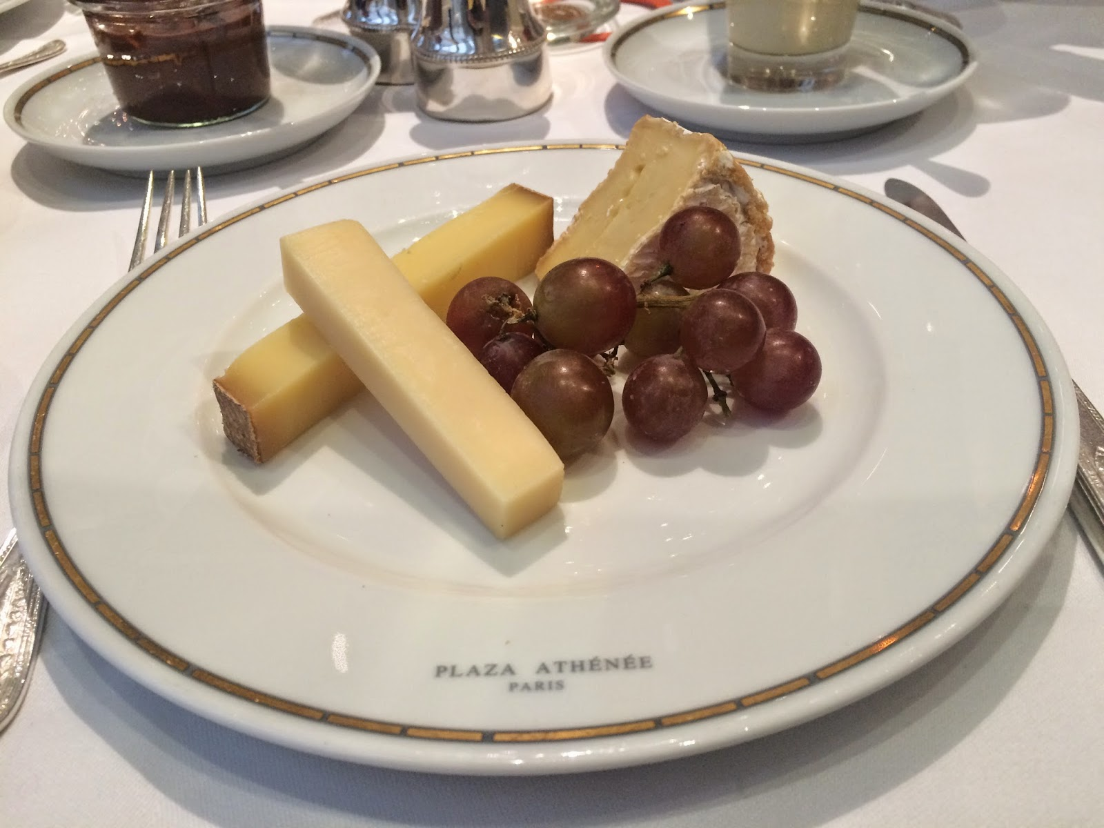 Cheese course at the Haute Couture Brunch, Alain Ducasse au Plaza Athénée, Paris