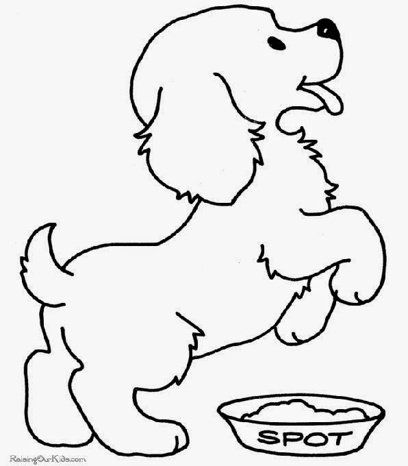 puppy picture coloring pages
