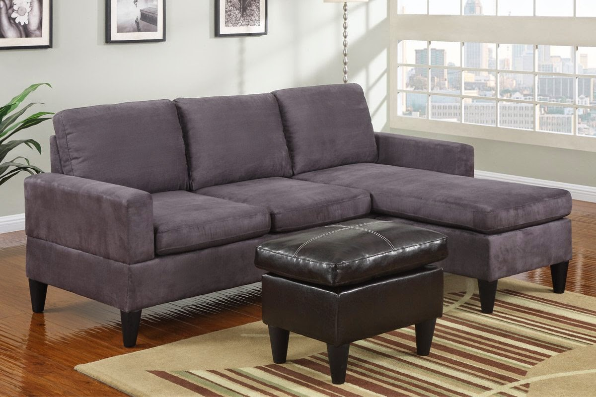 Grey couch grey microfiber couch for Microfiber sofa