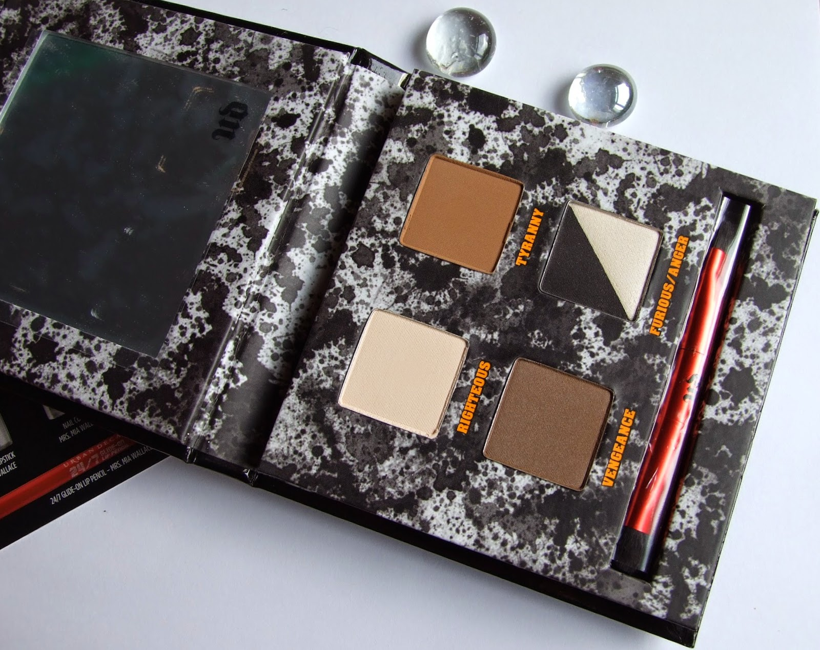 Urban decay pulp fiction Eyeshadow palette collection swatches review