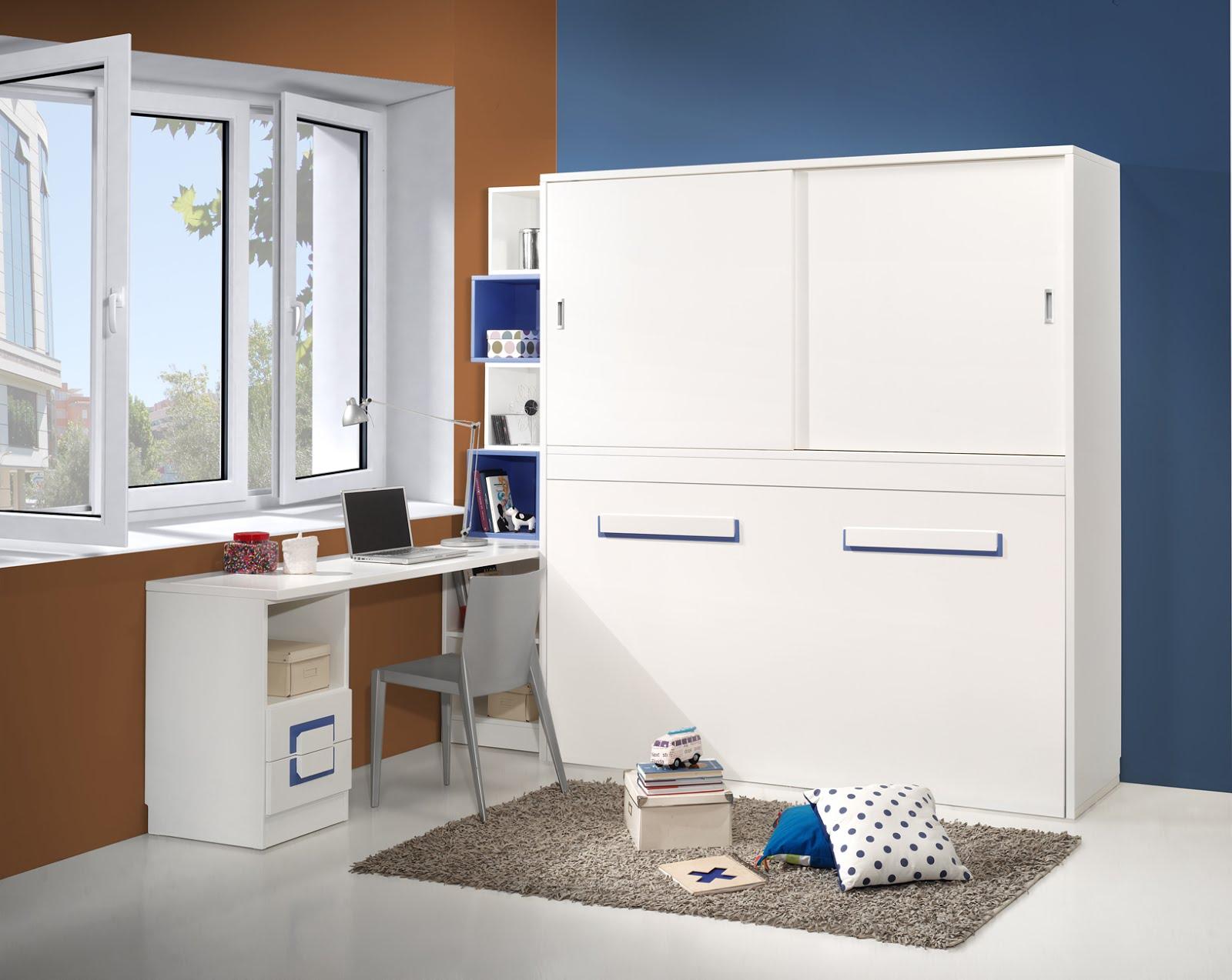 Dormitorios con camas abatibles literas abatibles - Camas abatibles con mesa ...