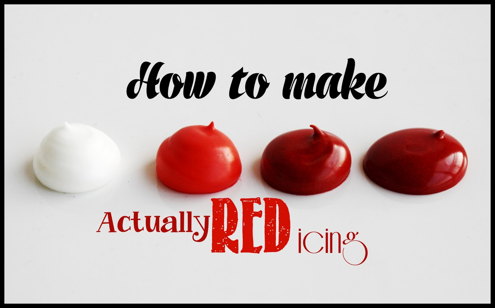 how to make frosting red