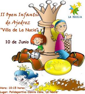 "II Open Infantil de Ajedrez ""Villa de la Nucía"" Junio de 2012"
