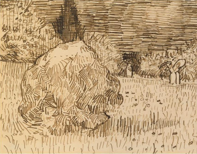Arles Public Garden Drawing by Vincent van Gogh