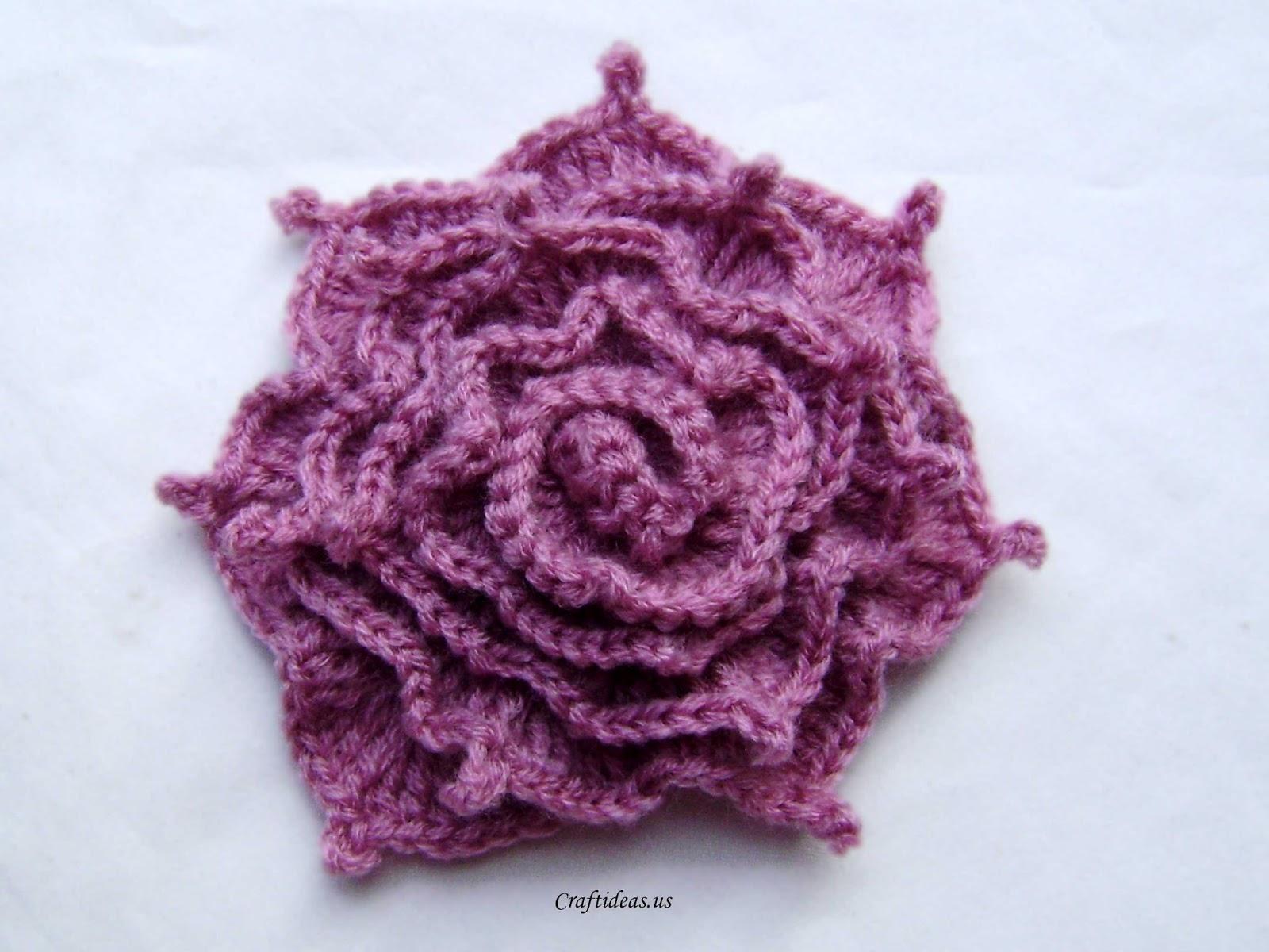 ergahandmade: Crochet Rose + Free Pattern Step By Step