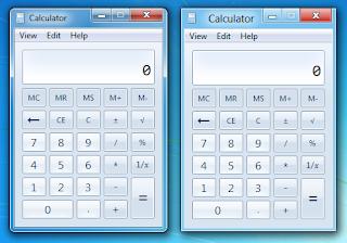 Windows 7 and Windows 8 Calculator