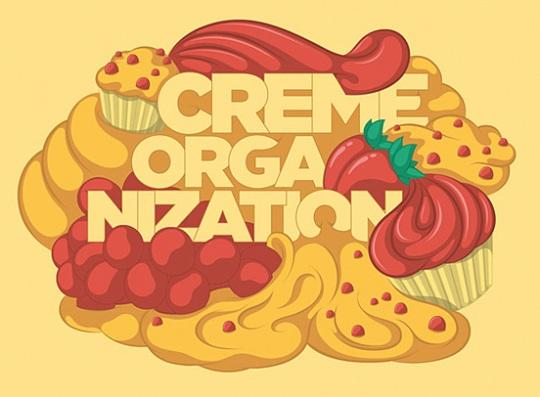 Creme Orga Nization typography
