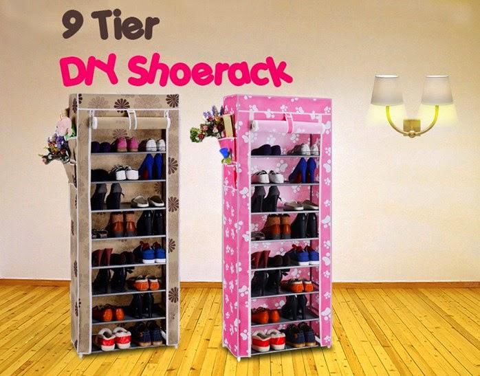 ❤ 9 Tier DIY Shoerack with Waterproof Cover ❤