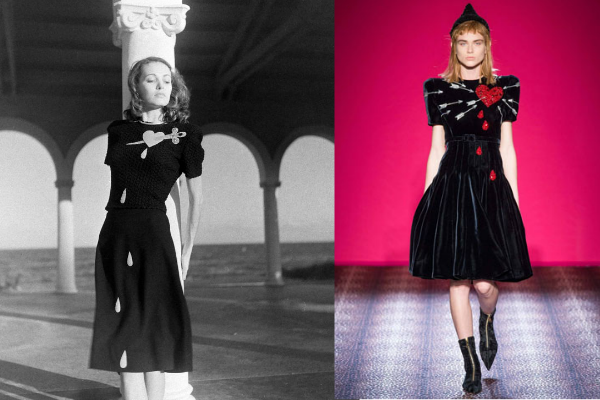 Flashback Summer: Controversial Post - Copying the Greats.  Schiaparelli heart dress, 1946, 2014