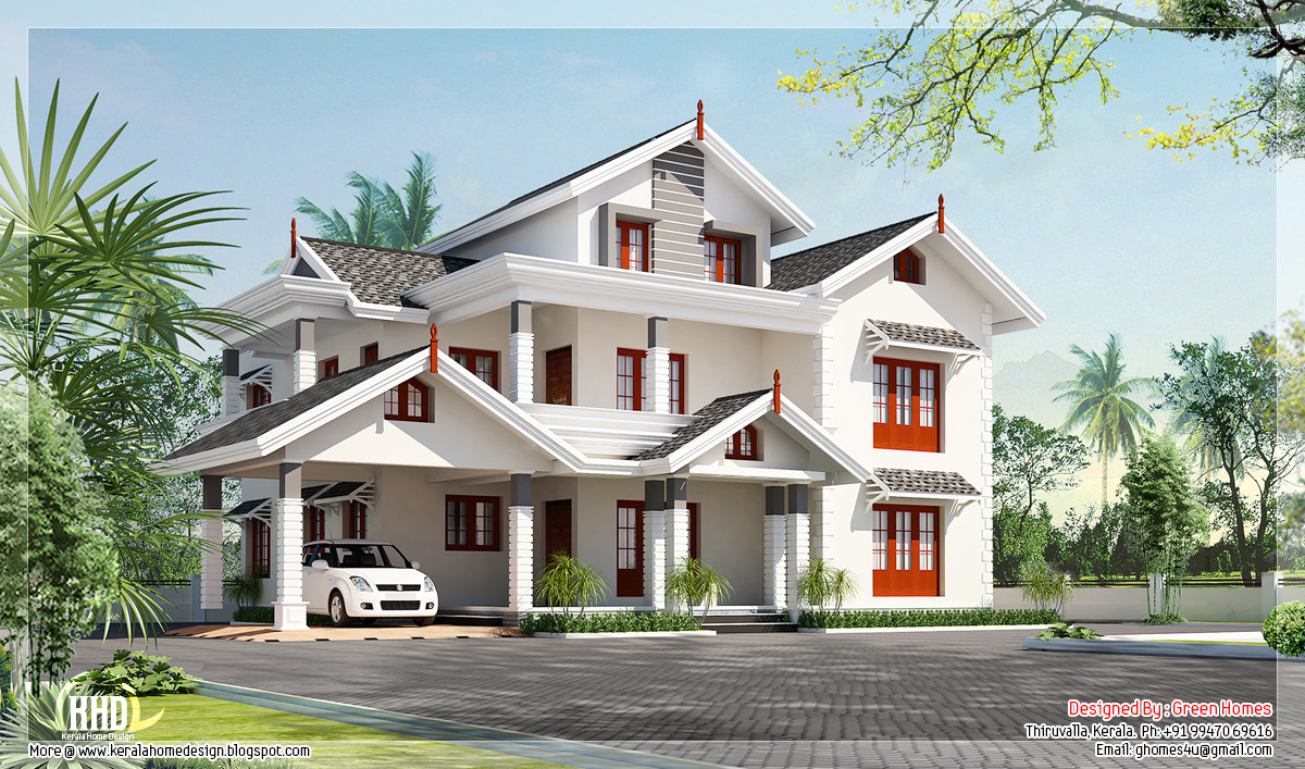 Beautiful 5 Bedroom Luxury Home Design By Green Homes , Thiruvalla