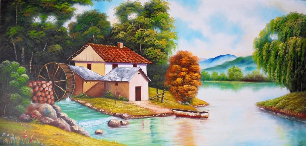 Im genes arte pinturas cuadros decorativos paisajes al - Cuadros para hacer en casa ...