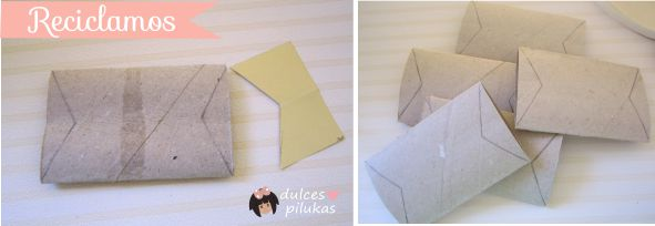 Cartonnettes reciclados muy fáciles para tus hilos