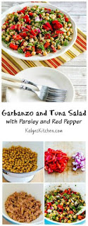 Garbanzo and Tuna Salad Recipe with Parsley and Red Pepper (Gluten-Free) [from KalynsKitchen.com]