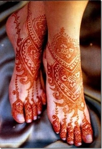 Mehndi Designs For Ankle : Texas foot mehndi