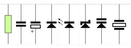 Common electronic symbols drawn in LibreOffice