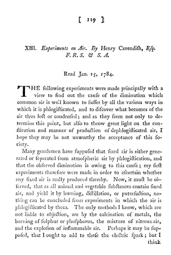 Paper in Phil. Trans. from 1784