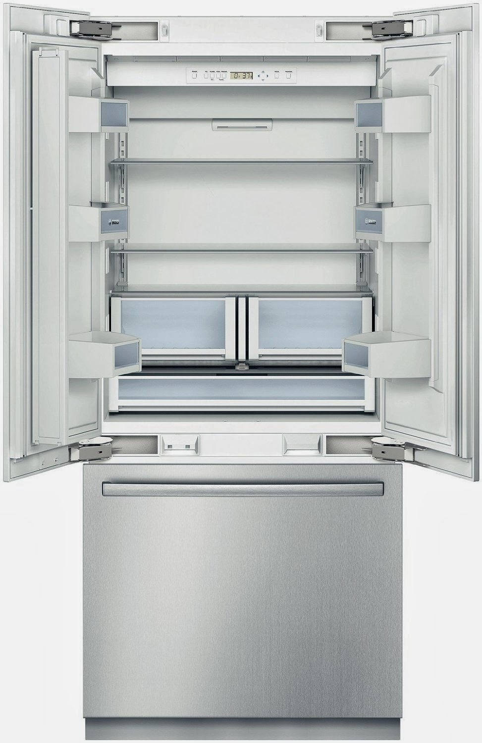 Bosch B36BT830NS 800 20.0 CF Stainless Steel Counter Depth Built In French  Door Refrigerator