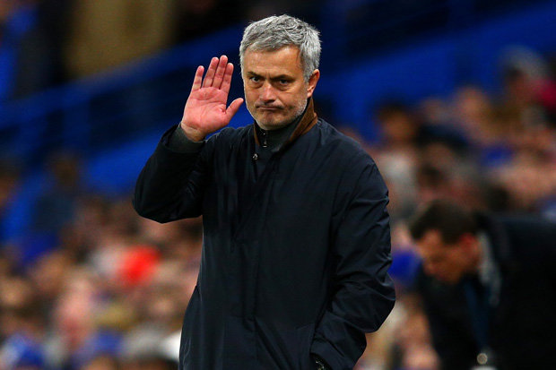 UNDER PRESSURE: Jose Mourinho on the touchline