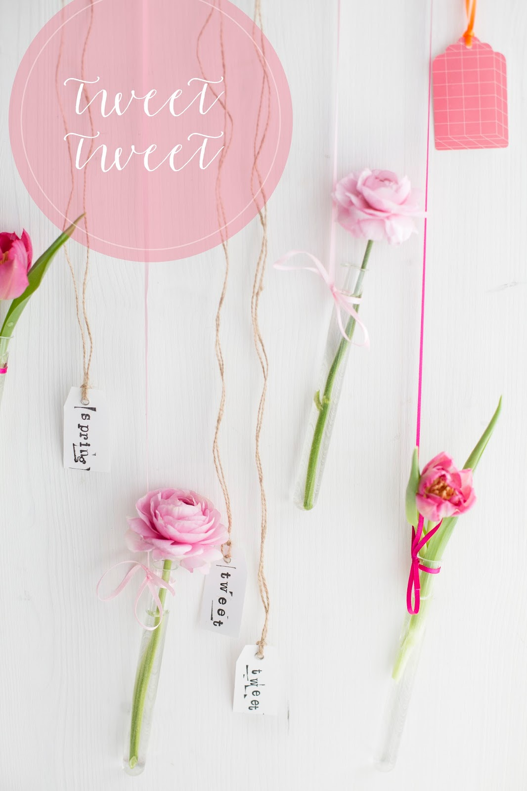 DIY Frühlingsblumen Girlande
