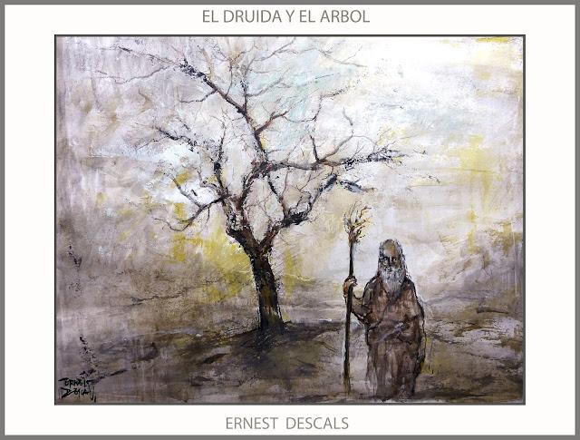 DRUIDAS-ARTE-PINTURA-ARBOLES-BOSQUE-SABIDURIA-NATURALEZA-PINTURAS-ARTISTA-PINTOR-ERNEST DESCALS-