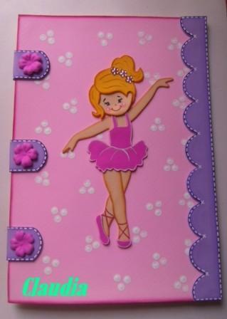 Carpeta Decorada Con Bailarina