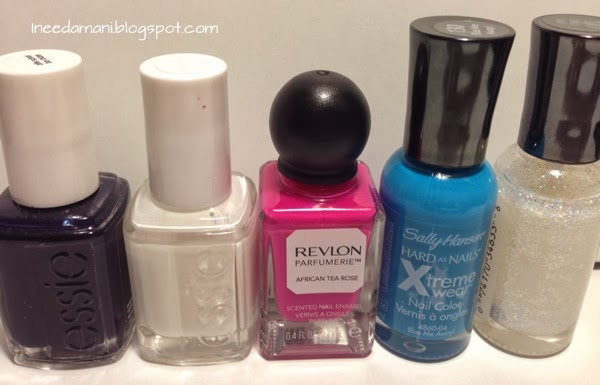 essie after school boy blazer blanc revlon parfumerie african tea rose sally hansen xtreme wear blue me away disco ball