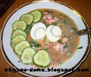 Холодный суп  типа окрошка