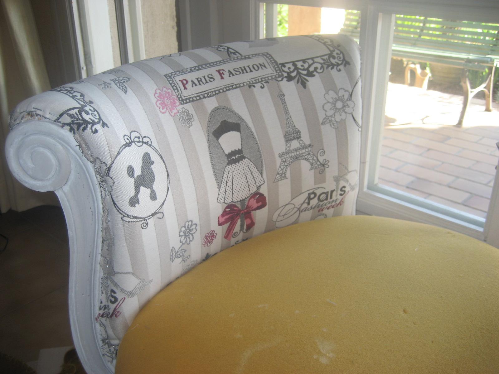 Le boudoir de sparkling fairy diy le fauteuil boudoir - Coller du tissu sur du bois ...