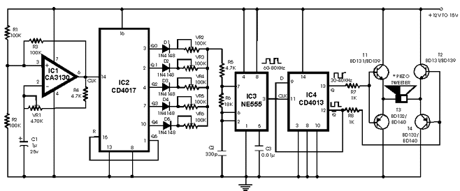 Circuito Eletronica : Eletrônico circuito repelente de mosquitos