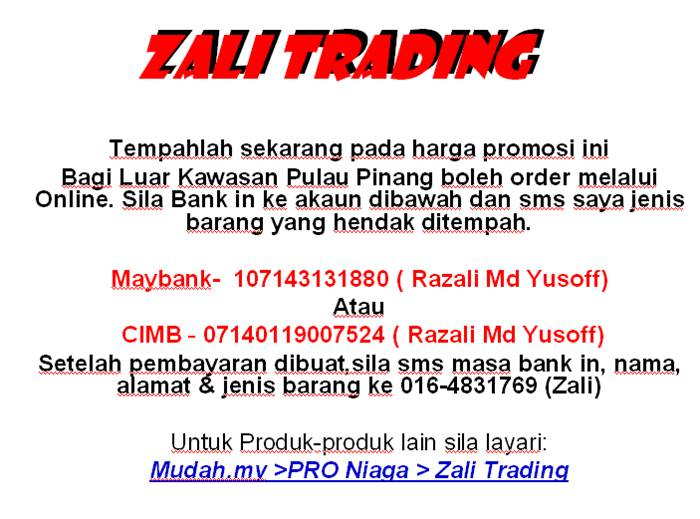 Zali Trading - Online Store (COD or Postage)