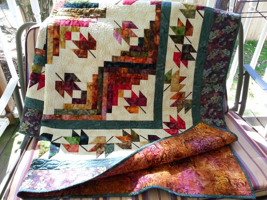 Gladys Gab On Quilts And Quotes Maple Leaf Log Cabin Quilt 007