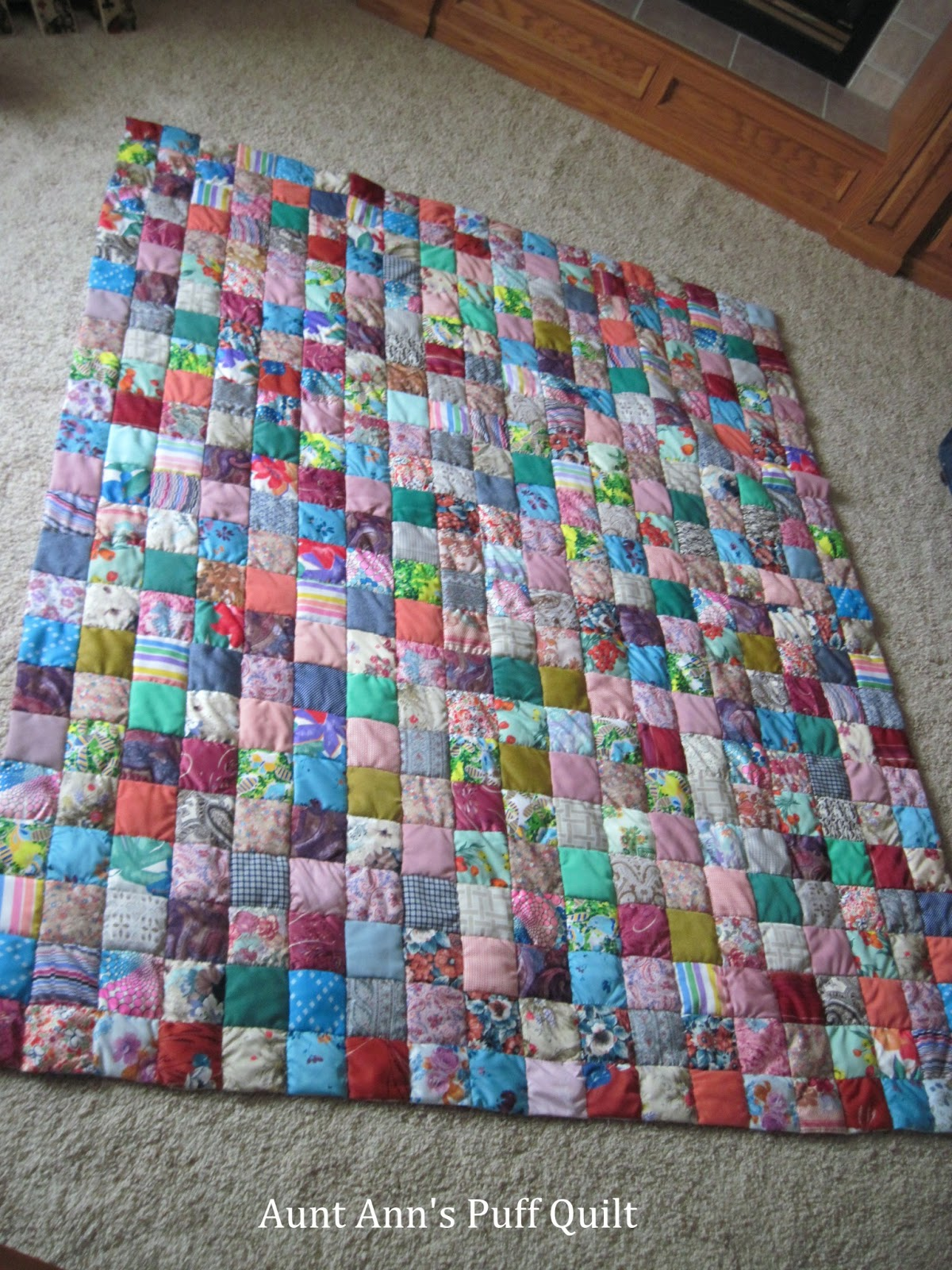 Jean S Quilting Page Aunt Ann S Puff Quilt