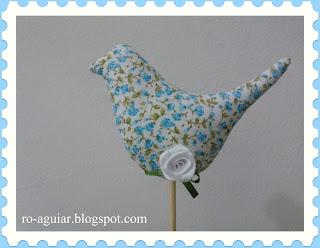artesanato em patchwork , passarinho