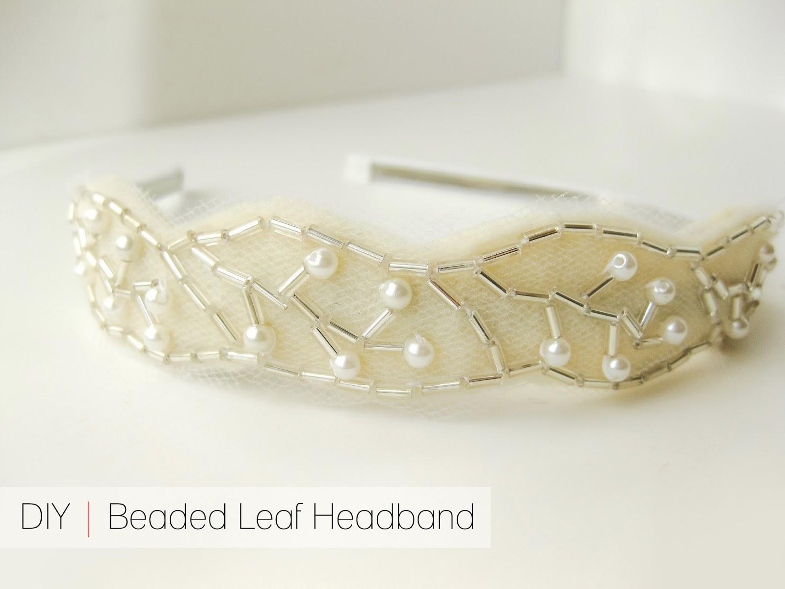 cafe craftea: diy | beaded leaf headband
