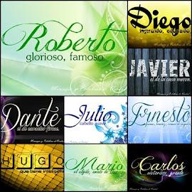 Nombres masculinos, su significado y su origen, en bellas imagenes para compartir en facebook .