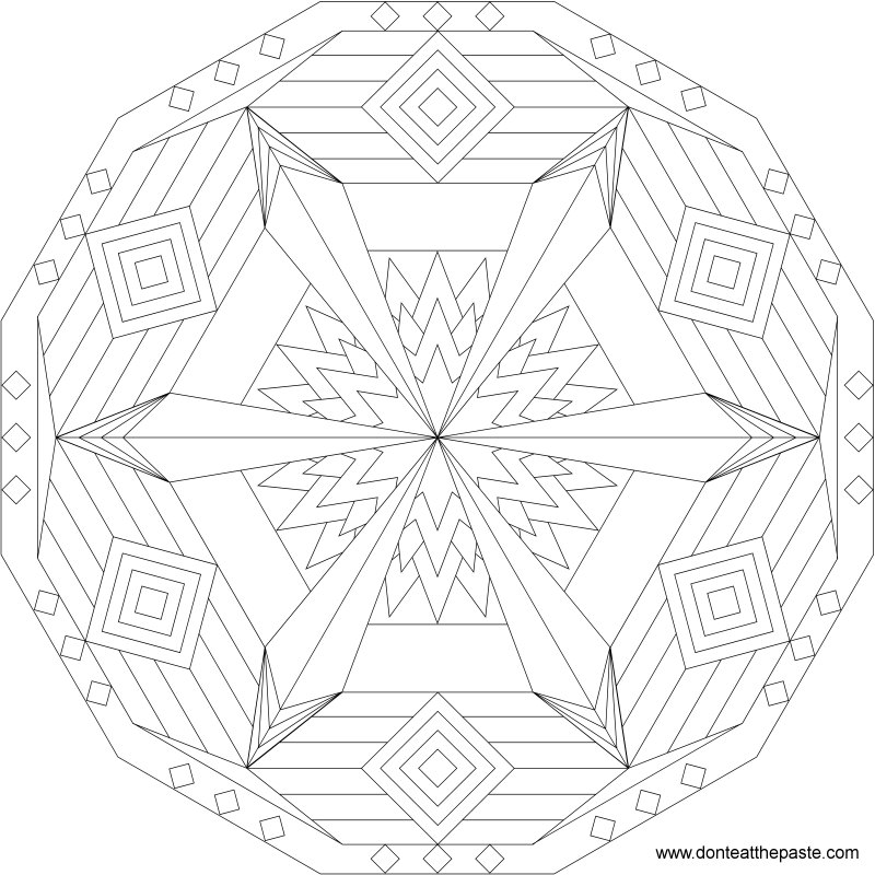 sacred geometry coloring pages - photo #7