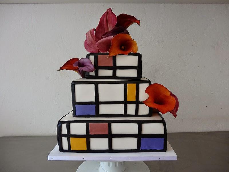 CAKE Amsterdam Mondrian Wedding Cake