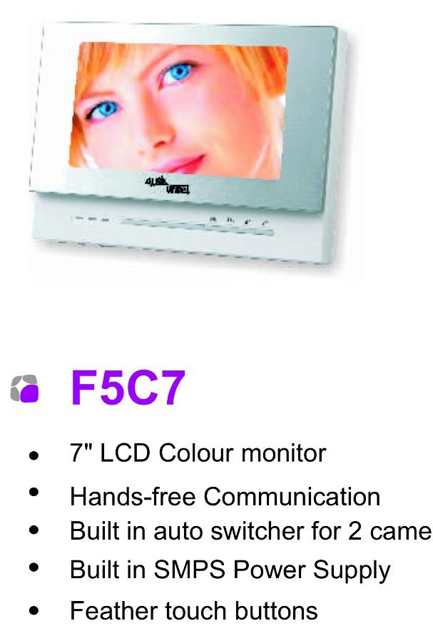 """Alba Urmet 7"""" Monitor (F5C7)"""