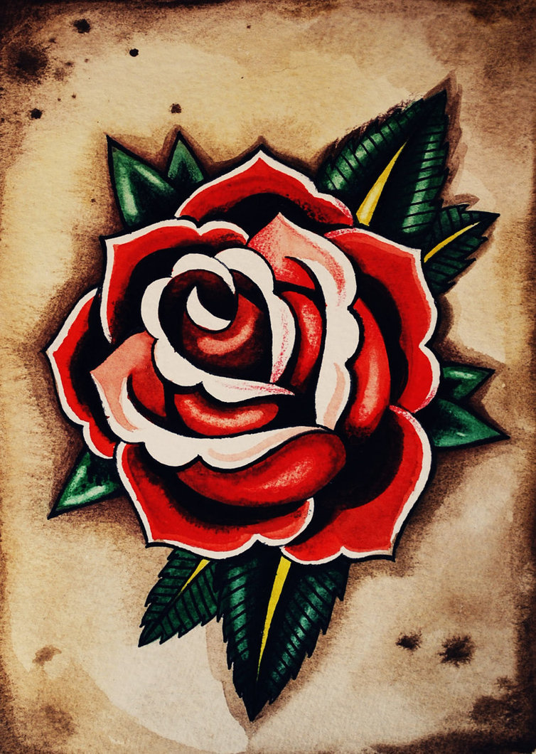 Old school rose by aprelll d312tyz