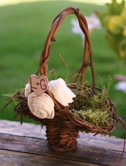 Flower Girl Baskets Diy : Baseball diamonds hairspray hopper wedding flower
