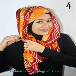 Cara Memakai Jilbab Kreasi Jilbab Pashmina Paris Silk