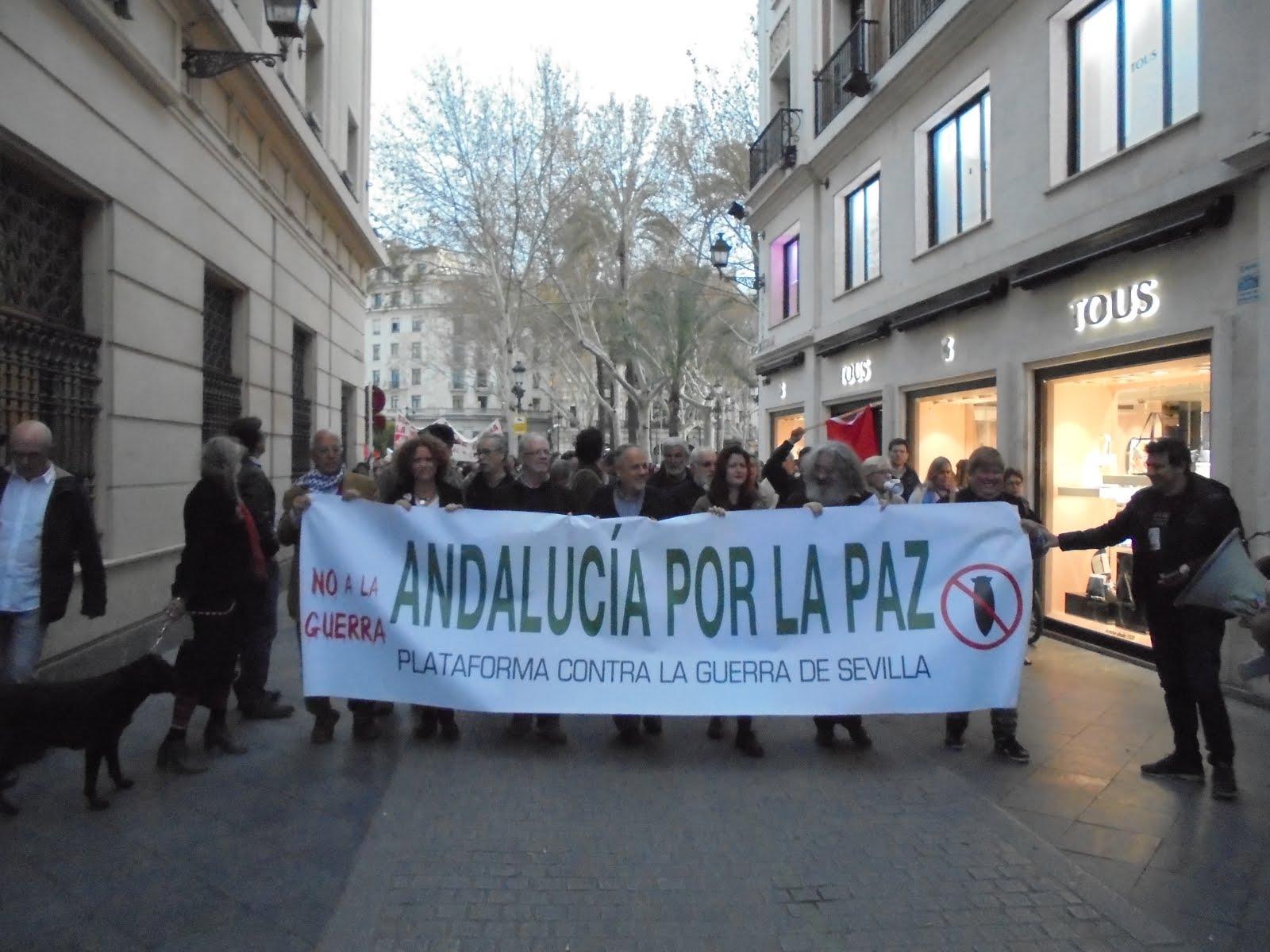 Manifestación 17M Andalucía por la paz. Contra la guerra