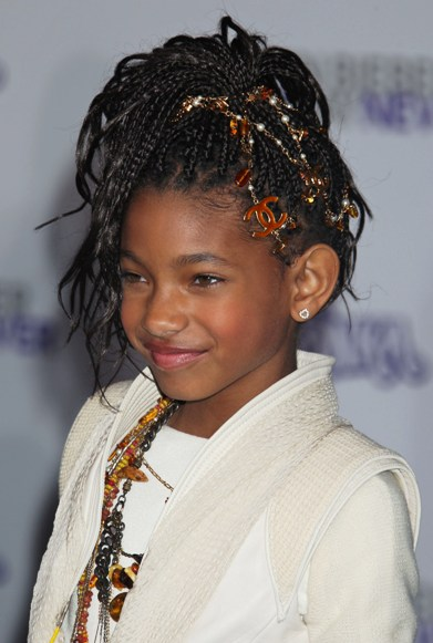 ... Glamour Chick Venus Simone: Willow Smith's braided, updo hairstyle