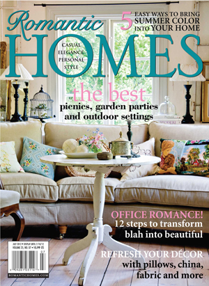 Rose chintz cottage thank you romantic homes magazine Home and cottage magazine