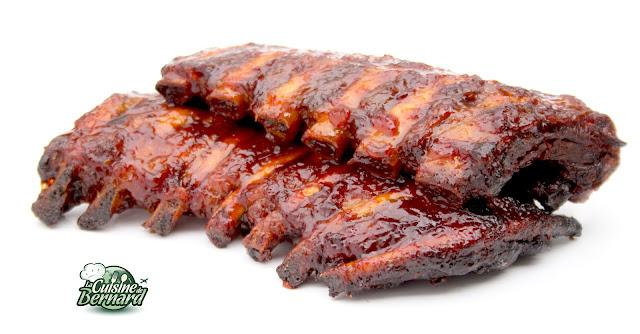 la cuisine de bernard les ribs de porc grill s sauce barbecue. Black Bedroom Furniture Sets. Home Design Ideas